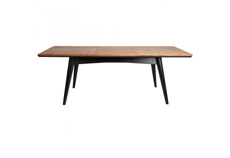 Table manger scandinave rectangulaire rallonge vein - Table a manger scandinave ...