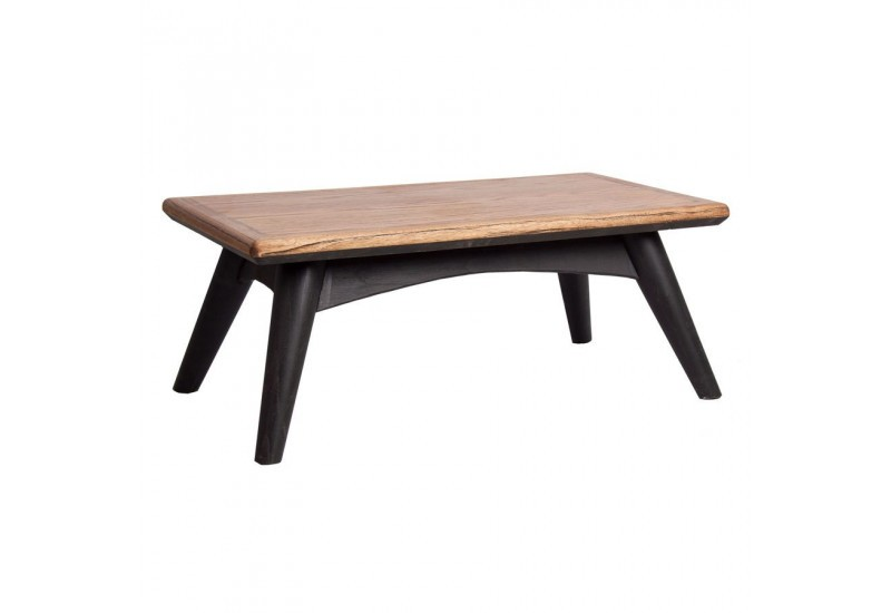 table basse scandinave rectangulaire vein en bois naturel et noir. Black Bedroom Furniture Sets. Home Design Ideas