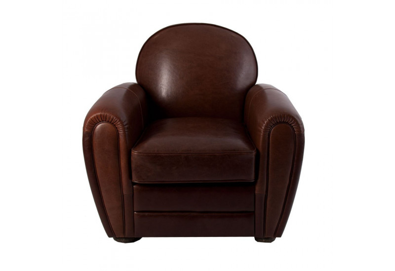 Fauteuil Club En Cuir Marron Vical Home Vical Home 17968
