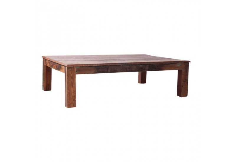 Table basse rectangulaire en bois exotique naturel vical for Table basse en bois naturel