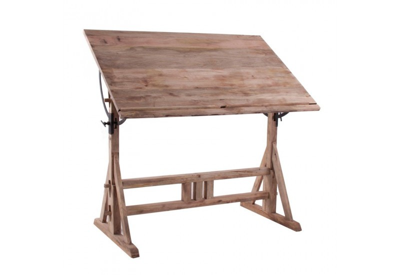 Table d 39 architecte en bois brut vical home vical home 18106 for Table d architecte ancienne