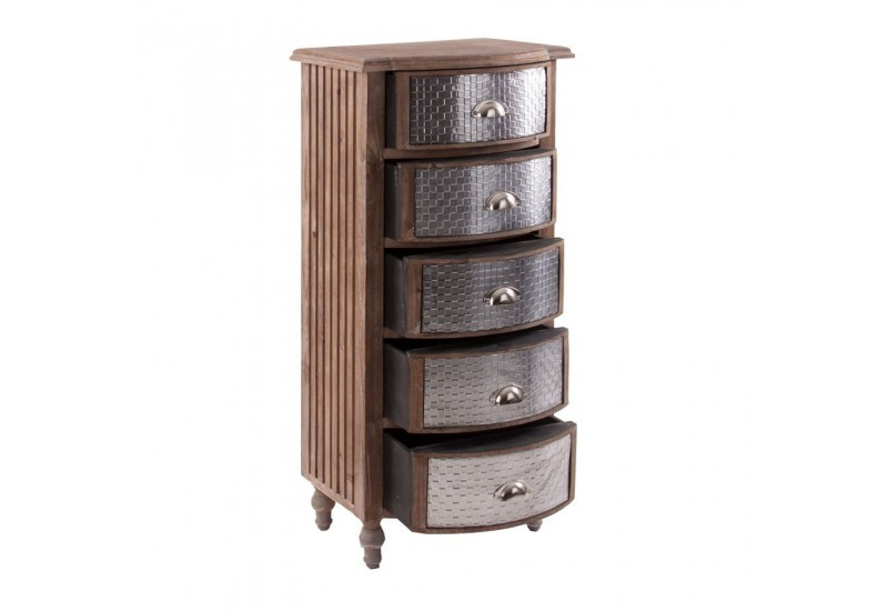 chiffonnier baroque galb en bois exotique et 5 tiroirs galva vical. Black Bedroom Furniture Sets. Home Design Ideas