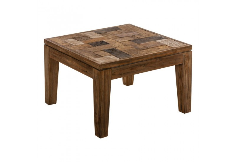 Table d 39 appoint de salon dessus en bois brut vical home for Table salon bois brut