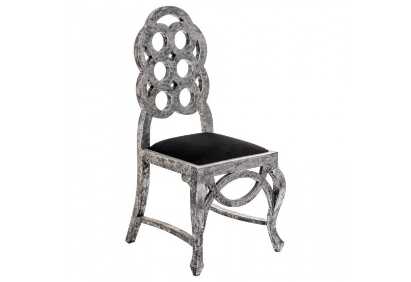 Beautiful Chaise Baroque Grise Avec Une Assise Noire Vical Home Vh With Chaises