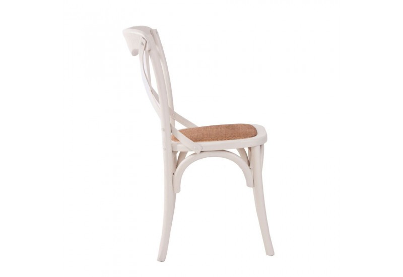 Chaise bistrot blanche vical home vical home 17911 - Chaise bistrot blanche ...