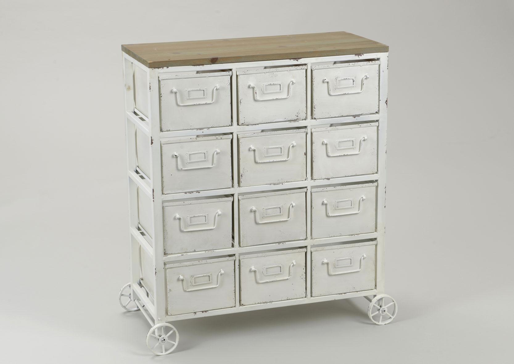 meuble bas roulette metal blanc meubles de design d 39 inspiration pour la. Black Bedroom Furniture Sets. Home Design Ideas