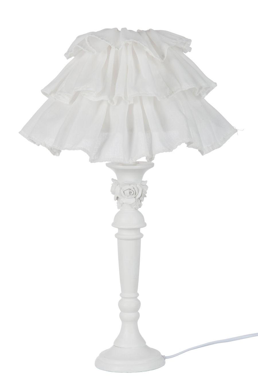 Jour Lampe Avec Volant 20x20x50 Romantique Rose Abat Blanche Tissus 0nvmOywN8P