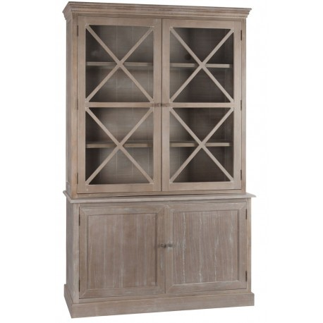 buffet 2 corps vitrine 2 portes et buffet 2 portes en bois brut 136. Black Bedroom Furniture Sets. Home Design Ideas