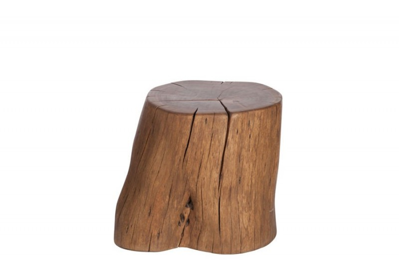 pouf forme tronc d 39 arbre en bois massif sur roulettes 30 45x30 45x4. Black Bedroom Furniture Sets. Home Design Ideas