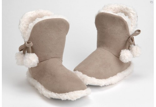 Chaussons polaire taupe 37/38 Amadeus