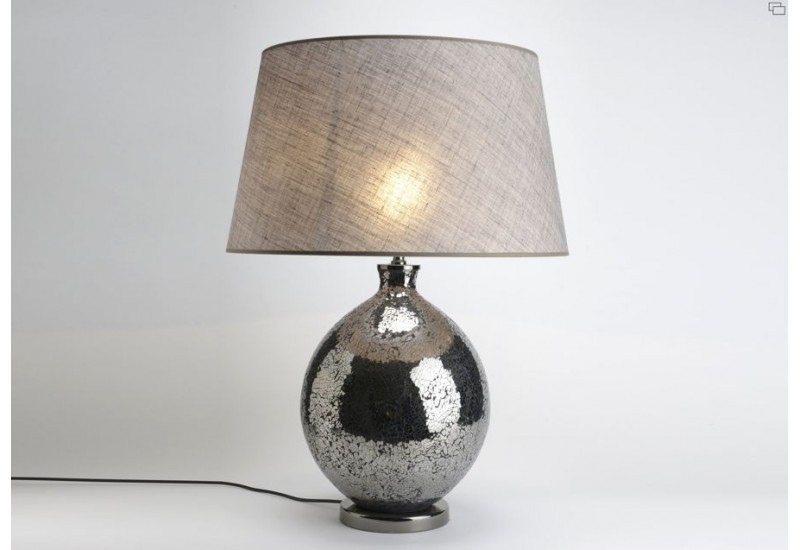 lampe poser mosaic abat jour skye gris amadeus amadeus 18897. Black Bedroom Furniture Sets. Home Design Ideas