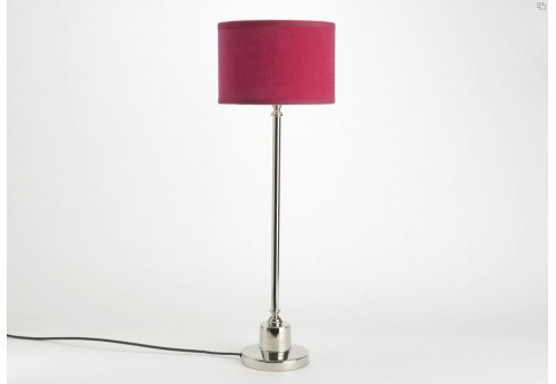 Lampe seattle naturellement chic chrome abat-jour fuchsia Amadeus
