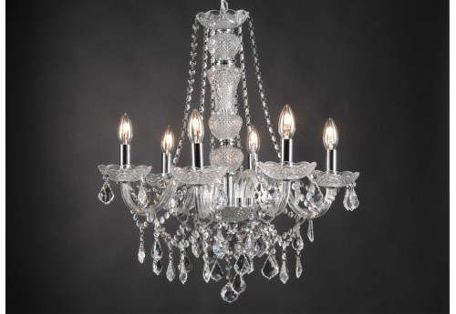 lustre pampilles trianon 6 lampes amadeus amadeus 19046. Black Bedroom Furniture Sets. Home Design Ideas