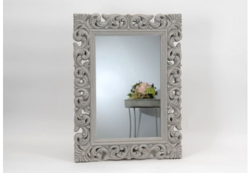 Grand miroir baroque gris amadeus amadeus 19100 for Grand miroir baroque