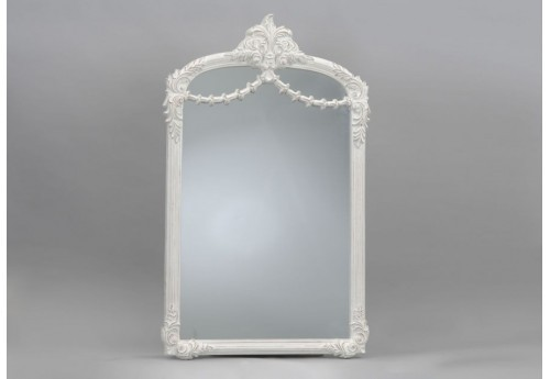 Grand miroir empire blanc 137x84 cm amadeus