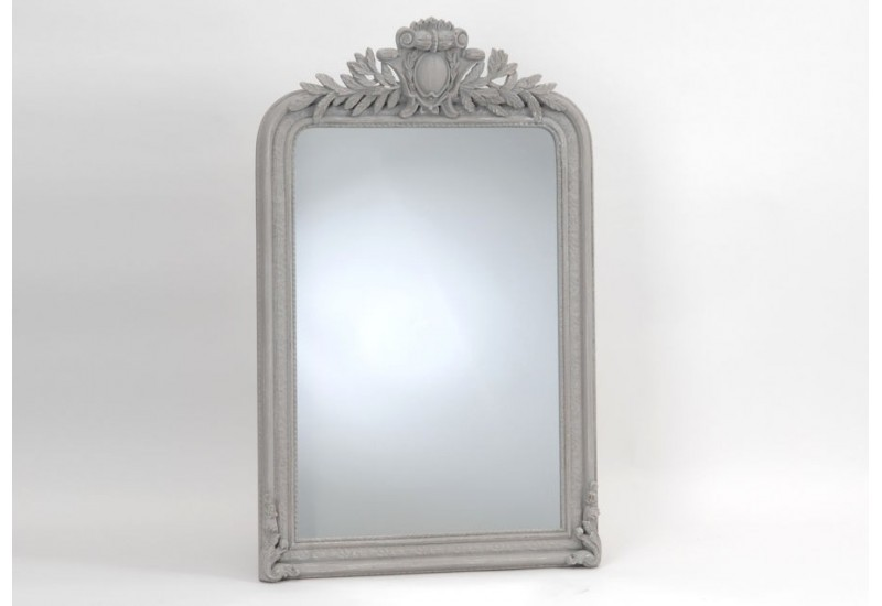Grand miroir empire gris 125x80 cm amadeus amadeus 19105 for Miroir baroque gris