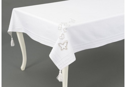 nappe carr blanche envolee 150x150 cm amadeus amadeus 19332. Black Bedroom Furniture Sets. Home Design Ideas