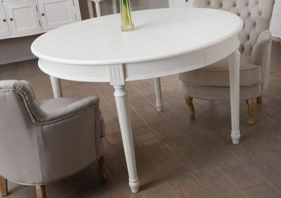 table a manger ronde allonge blanche romantique agathe amadeus 29 Impressionnant Table A Manger Ronde En Bois Sjd8