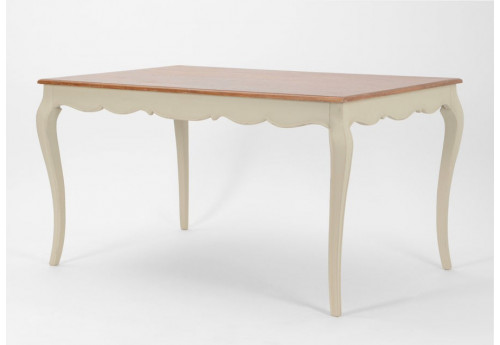 Table 140x90 2 tons plateau bois beauvoir amadeus