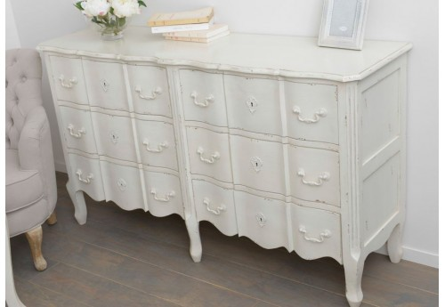 Commode double 6 tiroirs harpe amadeus