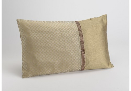 Housse + coussin rectangle couleur or aristo 30x50 Amadeus
