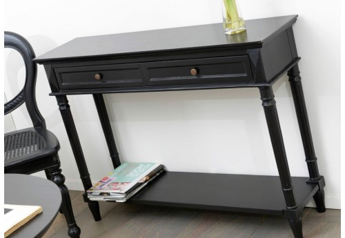 console 2 tiroirs noire bruges amadeus amadeus 19597. Black Bedroom Furniture Sets. Home Design Ideas