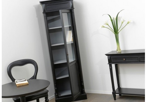 vitrine 1 porte vitr e noire bruges amadeus amadeus 19612. Black Bedroom Furniture Sets. Home Design Ideas