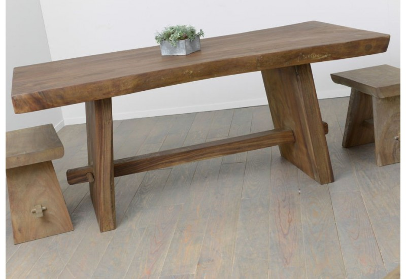 Table manger en bois massif meh nature amadeus amadeus 19618 for Table a manger en bois