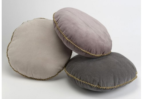 Coussin rond royal 3 couleurs velours Amadeus Lot de 3