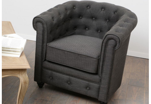 Chesterfield simple chevron gris anthracite amadeus