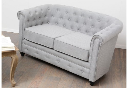 Chesterfield double chevron gris clair amadeus
