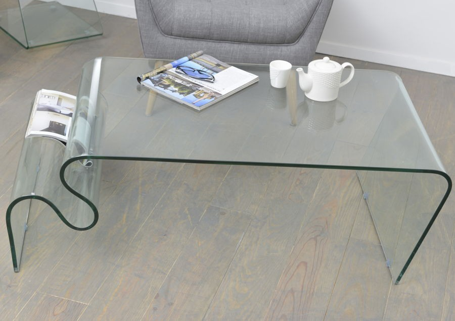 Grand Table De Salon Moderne En Verre