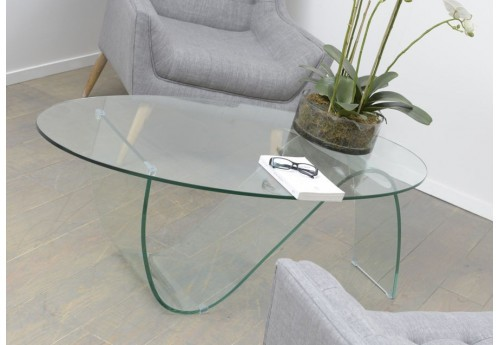 Table basse verre vague moderne Amadeus
