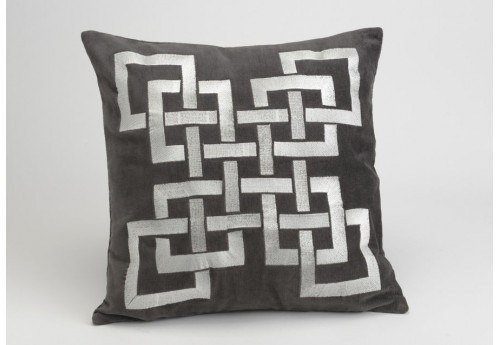 Housse + coussin carres 40x40 anthracite Amadeus