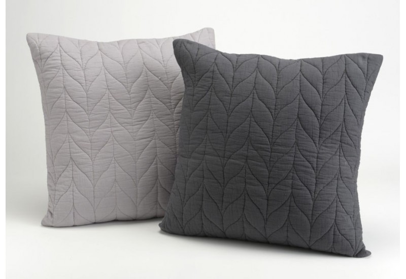 housse coussin chevrons 40x40 gris et anthracite amadeus. Black Bedroom Furniture Sets. Home Design Ideas