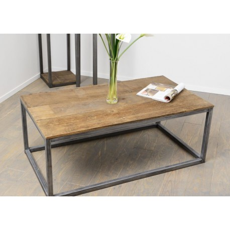 table basse recycl industrielle rectangle amadeus amadeus 19824. Black Bedroom Furniture Sets. Home Design Ideas
