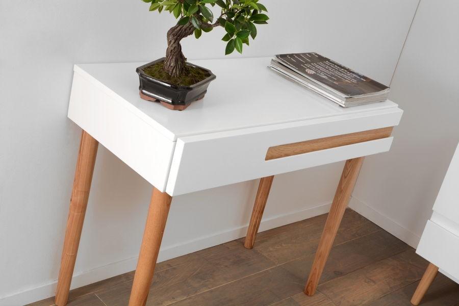 Bureau tiroir scandinave blanc amadeus amadeus