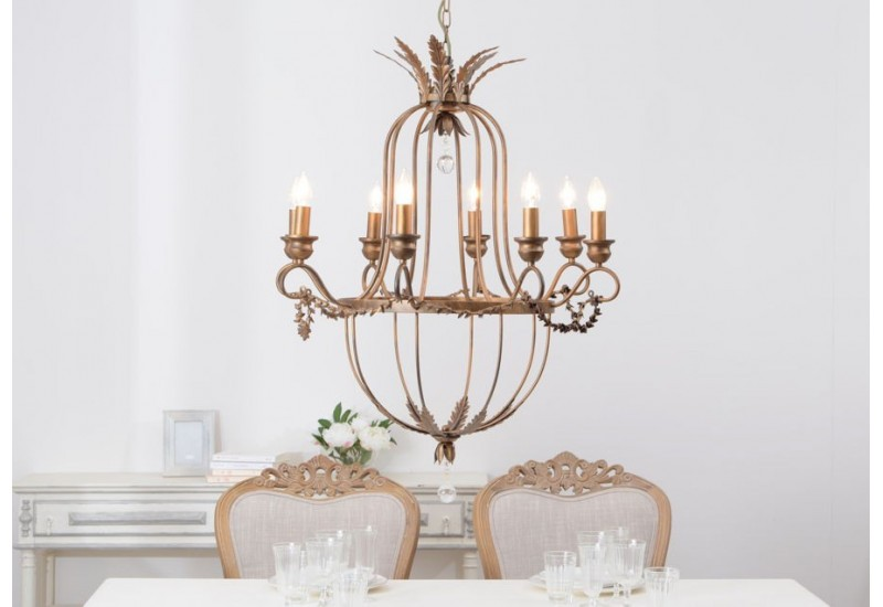 lustre grand si cle 8 lampes bronze amadeus amadeus 19851. Black Bedroom Furniture Sets. Home Design Ideas