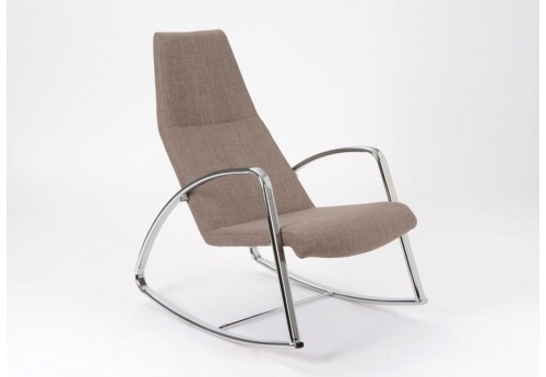 Rocking chair gris moderne Amadeus
