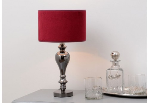 lampe de chevet baroque chandelle avec abat jour velours chic borde. Black Bedroom Furniture Sets. Home Design Ideas