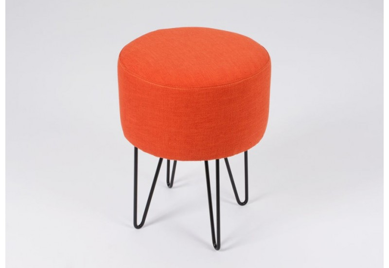 tabouret scandinave pieds m tal tissus orange amadeus amadeus 20016. Black Bedroom Furniture Sets. Home Design Ideas
