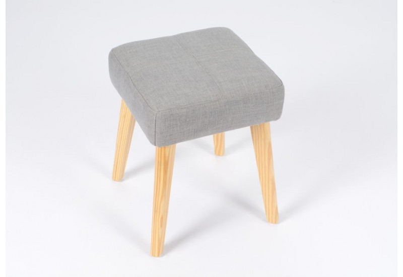tabouret scandinave carr tissus gris amadeus amadeus 20023. Black Bedroom Furniture Sets. Home Design Ideas
