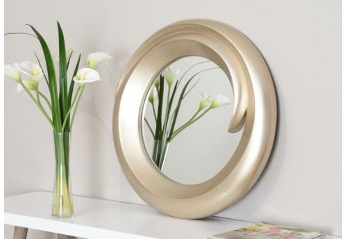 miroir moderne rond virga argent 70 cm amadeus amadeus 20043. Black Bedroom Furniture Sets. Home Design Ideas