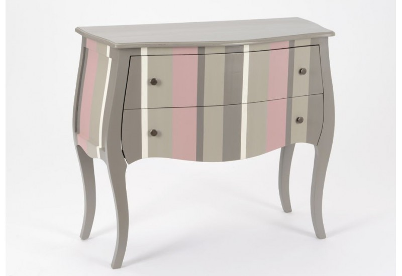 petite commode h ritier baroque bayad re gris et rose 2 tiroirs ama. Black Bedroom Furniture Sets. Home Design Ideas