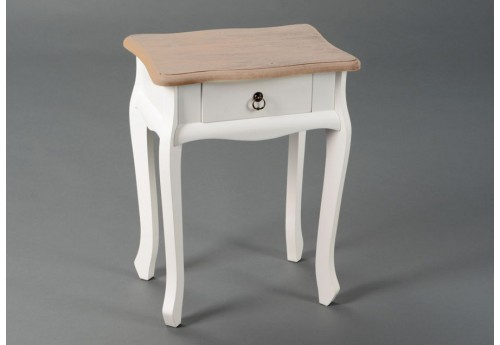 table de chevet blanc bois