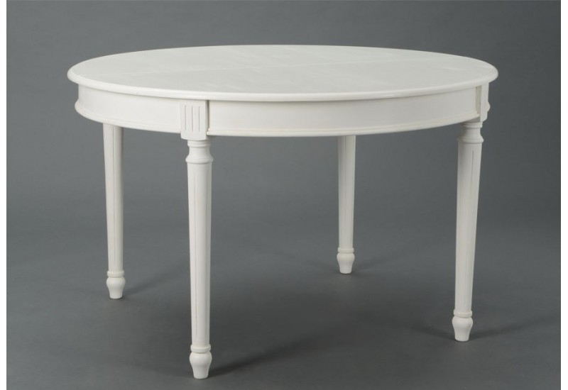 table manger ronde allonge blanche romantique agathe amadeus am. Black Bedroom Furniture Sets. Home Design Ideas