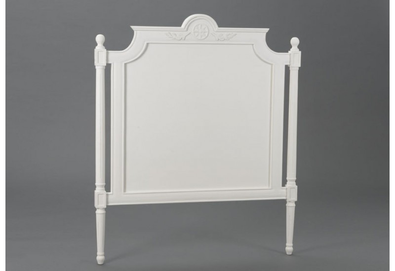 t te de lit blanche romantique 90 cm agathe amadeus amadeus 19372. Black Bedroom Furniture Sets. Home Design Ideas