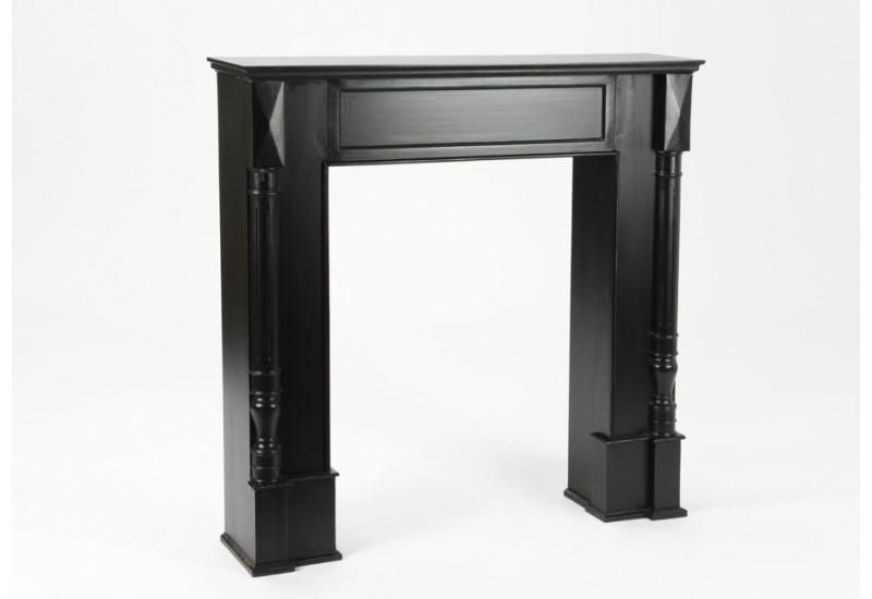 manteau de chemin e ligne droite noir bruges amadeus amadeus 19602. Black Bedroom Furniture Sets. Home Design Ideas
