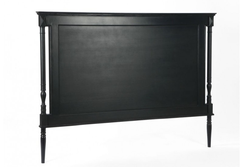 t te de lit 160 cm noire bruges amadeus amadeus 19611. Black Bedroom Furniture Sets. Home Design Ideas