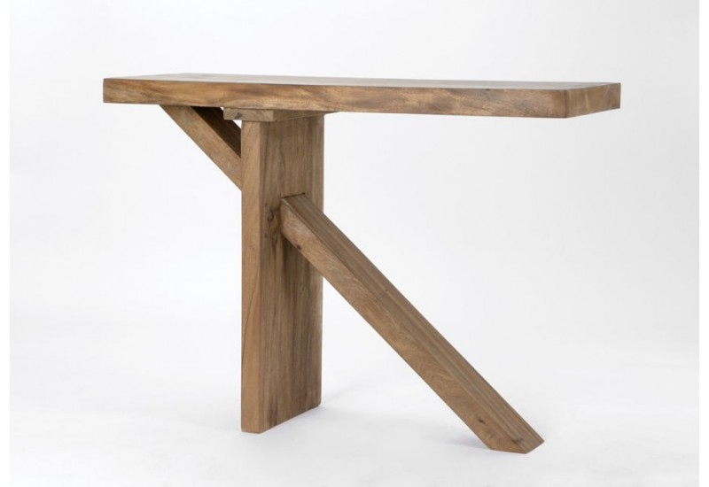Table bar en bois massif meh nature amadeus amadeus 19621 - Table haute en bois ...